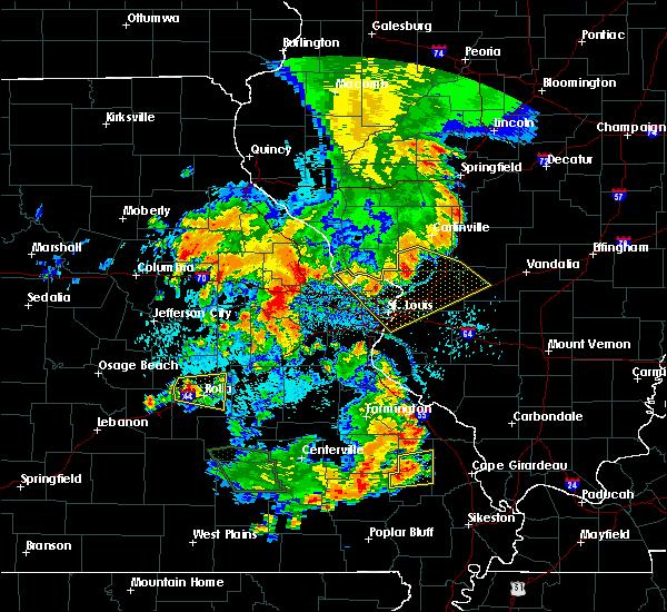Radar Image for Severe Thunderstorms near Collinsville, IL at 7/17/2019 5:45 PM CDT