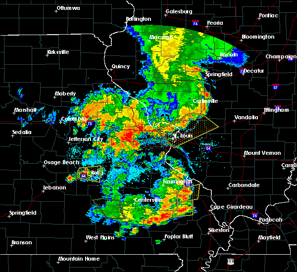 Radar Image for Severe Thunderstorms near St. Jacob, IL at 7/17/2019 5:55 PM CDT