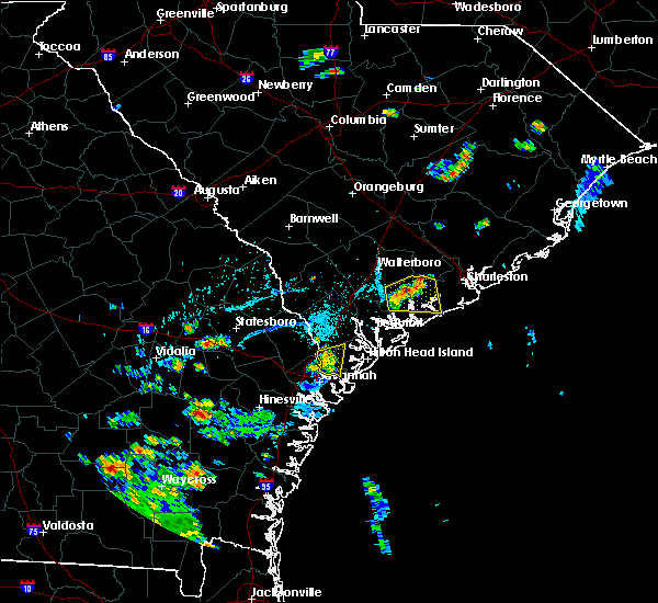 Radar Image for Severe Thunderstorms near Bluffton, SC at 7/17/2019 6:55 PM EDT