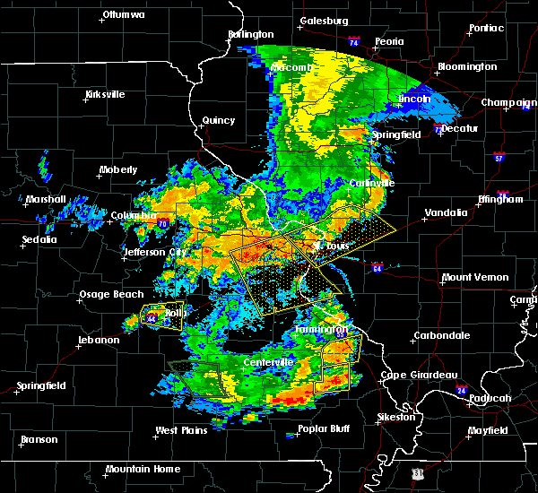 Radar Image for Severe Thunderstorms near St. Peters, MO at 7/17/2019 6:04 PM CDT