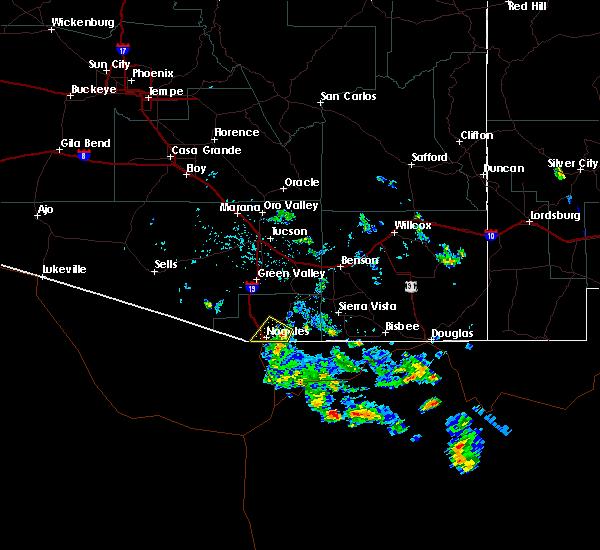 Radar Image for Severe Thunderstorms near Beyerville, AZ at 7/17/2019 4:13 PM MST