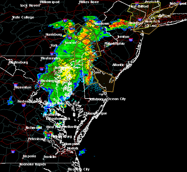 Radar Image for Severe Thunderstorms near Dover, DE at 7/17/2019 7:41 PM EDT