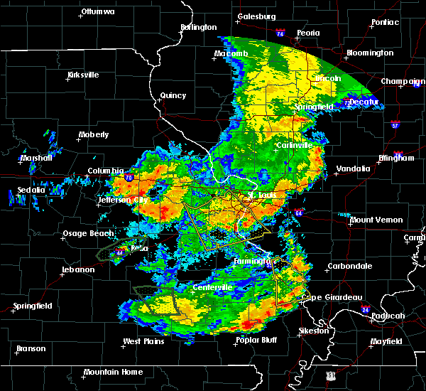 Radar Image for Severe Thunderstorms near Waterloo, IL at 7/17/2019 6:40 PM CDT