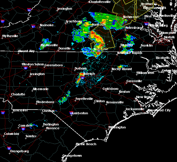Radar Image for Severe Thunderstorms near Warrenton, NC at 6/20/2015 8:41 PM EDT