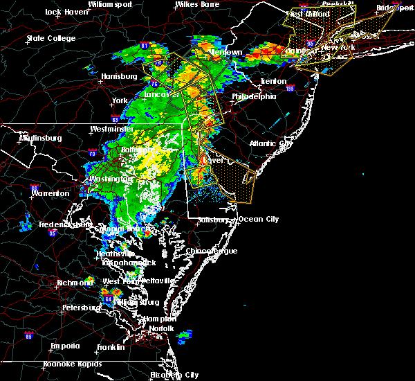 Radar Image for Severe Thunderstorms near Dover, DE at 7/17/2019 7:48 PM EDT