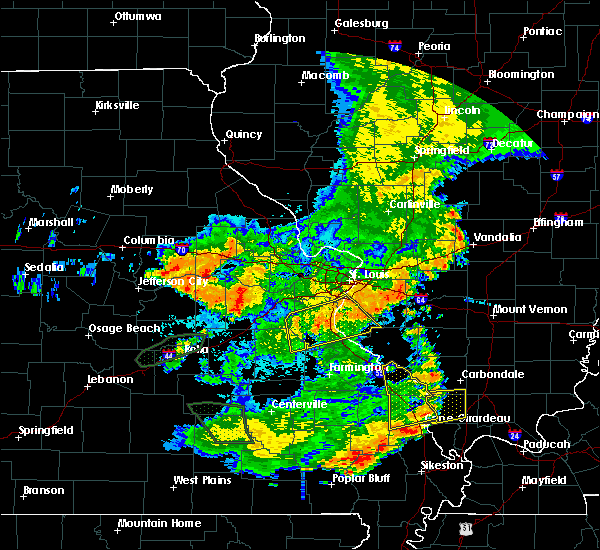 Radar Image for Severe Thunderstorms near Waterloo, IL at 7/17/2019 6:49 PM CDT