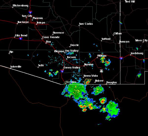 Radar Image for Severe Thunderstorms near Sierra Vista Southeast, AZ at 7/17/2019 5:13 PM MST