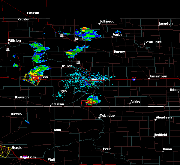 Radar Image for Severe Thunderstorms near Dickinson, ND at 7/17/2019 6:20 PM MDT