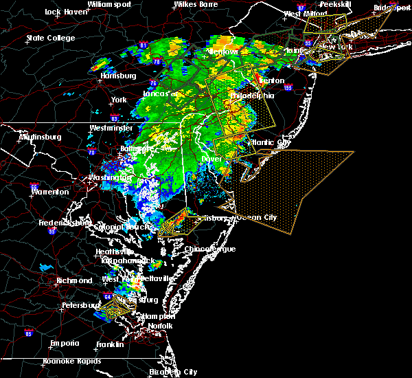 Radar Image for Severe Thunderstorms near Mardela Springs, MD at 7/17/2019 8:22 PM EDT