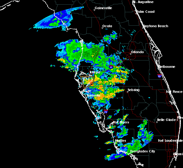 Radar Image for Severe Thunderstorms near Riverview, FL at 7/17/2019 8:33 PM EDT