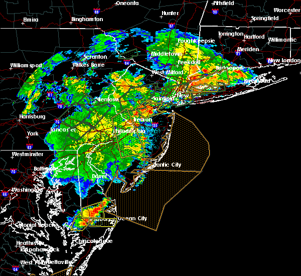 Radar Image for Severe Thunderstorms near Roebling, NJ at 7/17/2019 8:54 PM EDT