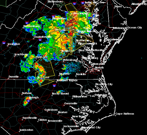 Radar Image for Severe Thunderstorms near Ashland, VA at 6/20/2015 8:48 PM EDT