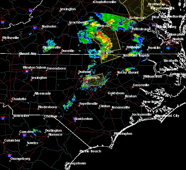 Radar Image for Severe Thunderstorms near Clayton, NC at 6/20/2015 8:50 PM EDT