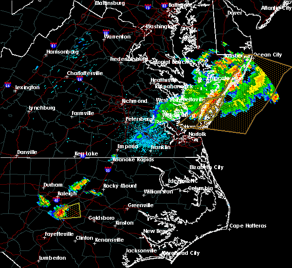 Radar Image for Severe Thunderstorms near Belle Haven, VA at 7/17/2019 11:47 PM EDT