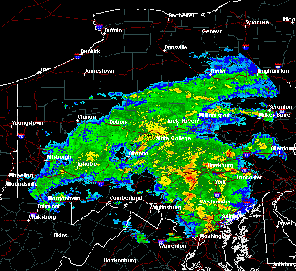 Radar Image for Severe Thunderstorms near Gordon, PA at 6/20/2015 8:58 PM EDT