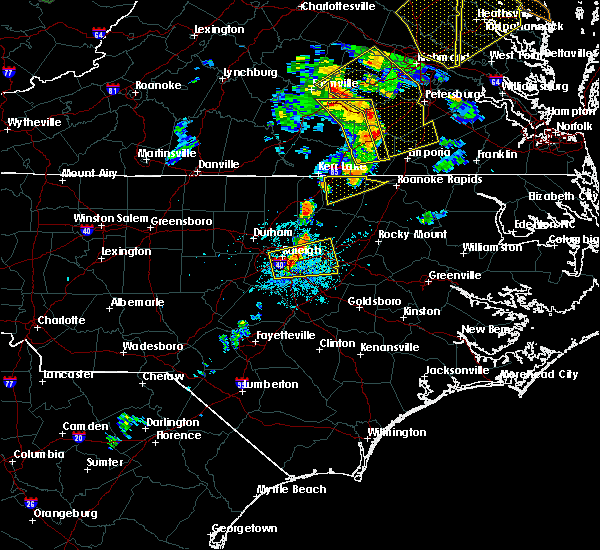 Radar Image for Severe Thunderstorms near Zebulon, NC at 6/20/2015 9:02 PM EDT