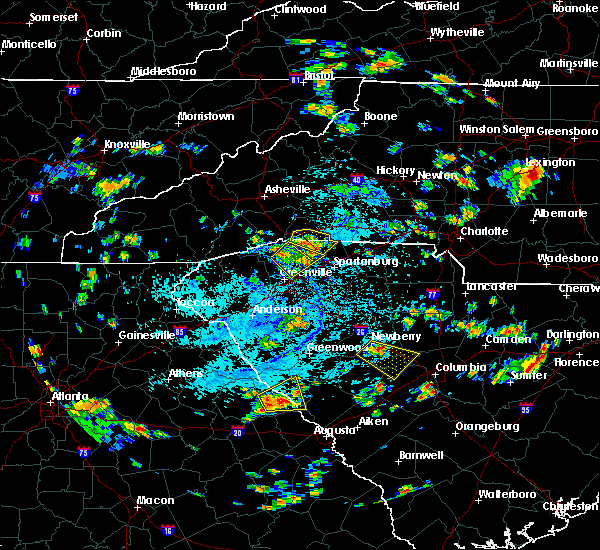 Radar Image for Severe Thunderstorms near Plum Branch, SC at 7/18/2019 3:36 PM EDT