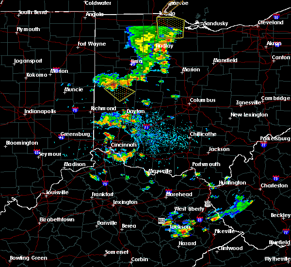 Radar Image for Severe Thunderstorms near Sidney, OH at 7/18/2019 3:51 PM EDT