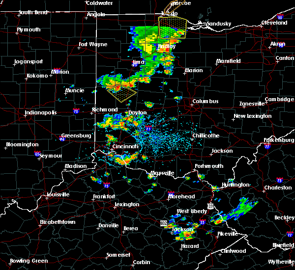 Radar Image for Severe Thunderstorms near Piqua, OH at 7/18/2019 4:01 PM EDT