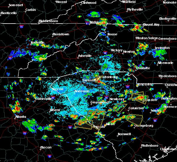 Radar Image for Severe Thunderstorms near Roebuck, SC at 7/18/2019 4:17 PM EDT