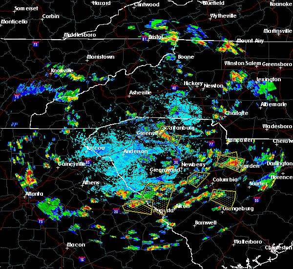 Radar Image for Severe Thunderstorms near Jonesville, SC at 7/18/2019 4:27 PM EDT