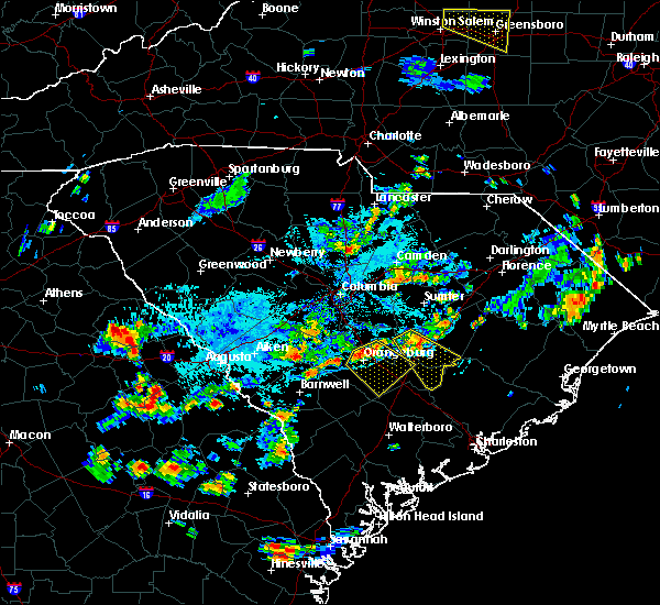 Radar Image for Severe Thunderstorms near Rowesville, SC at 7/18/2019 6:02 PM EDT