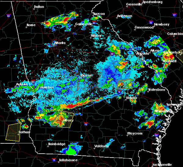 Radar Image for Severe Thunderstorms near Adrian, GA at 7/18/2019 6:21 PM EDT