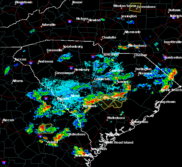 Radar Image for Severe Thunderstorms near Cameron, SC at 7/18/2019 6:28 PM EDT