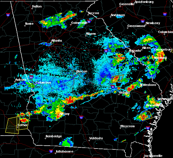 Radar Image for Severe Thunderstorms near Swainsboro, GA at 7/18/2019 6:37 PM EDT