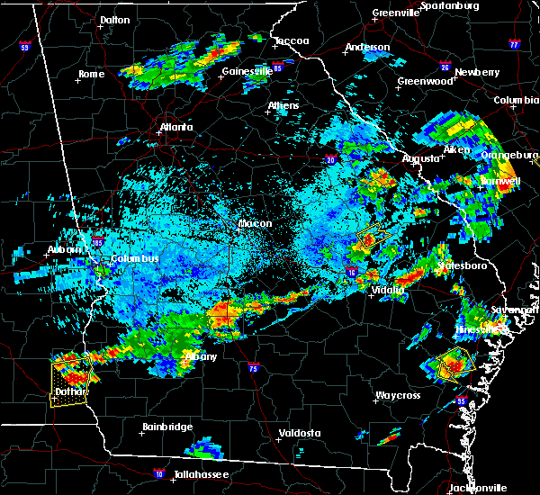 Radar Image for Severe Thunderstorms near Wadley, GA at 7/18/2019 6:48 PM EDT