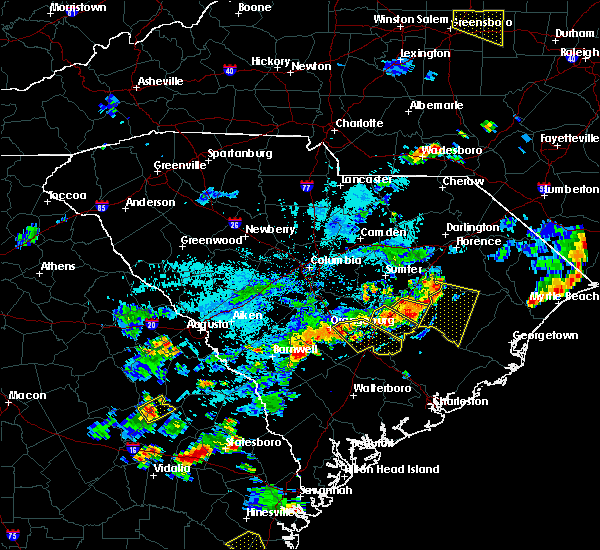 Radar Image for Severe Thunderstorms near Bowman, SC at 7/18/2019 6:49 PM EDT
