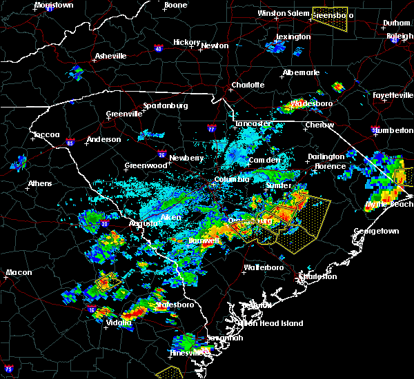 Radar Image for Severe Thunderstorms near Moncks Corner, SC at 7/18/2019 6:53 PM EDT