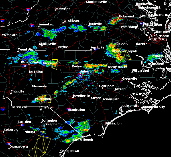 Radar Image for Severe Thunderstorms near Cordova, NC at 7/18/2019 7:20 PM EDT
