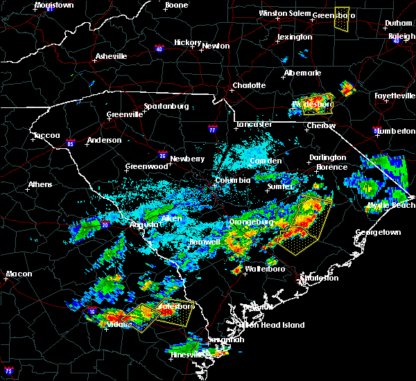 Radar Image for Severe Thunderstorms near Moncks Corner, SC at 7/18/2019 7:26 PM EDT