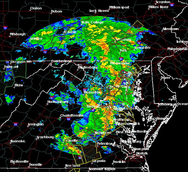 Radar Image for Severe Thunderstorms near Parkville, MD at 6/20/2015 9:12 PM EDT