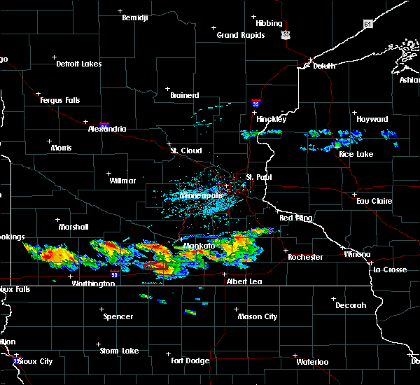 Radar Image for Severe Thunderstorms near Truman, MN at 7/18/2019 7:12 PM CDT
