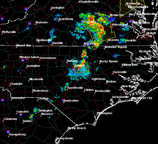 Radar Image for Severe Thunderstorms near Hollister, NC at 6/20/2015 9:12 PM EDT
