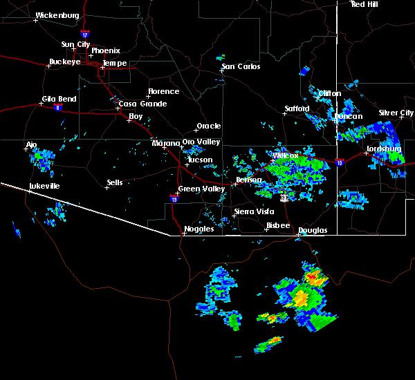 Radar Image for Severe Thunderstorms near Douglas, AZ at 7/18/2019 7:49 PM MST