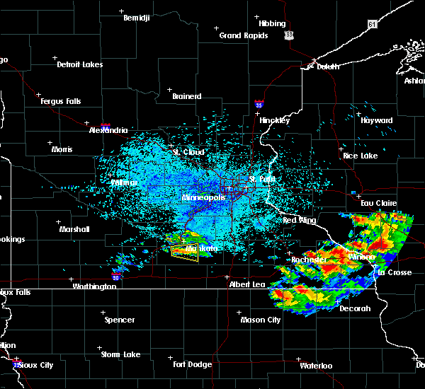 Radar Image for Severe Thunderstorms near Good Thunder, MN at 7/18/2019 10:03 PM CDT