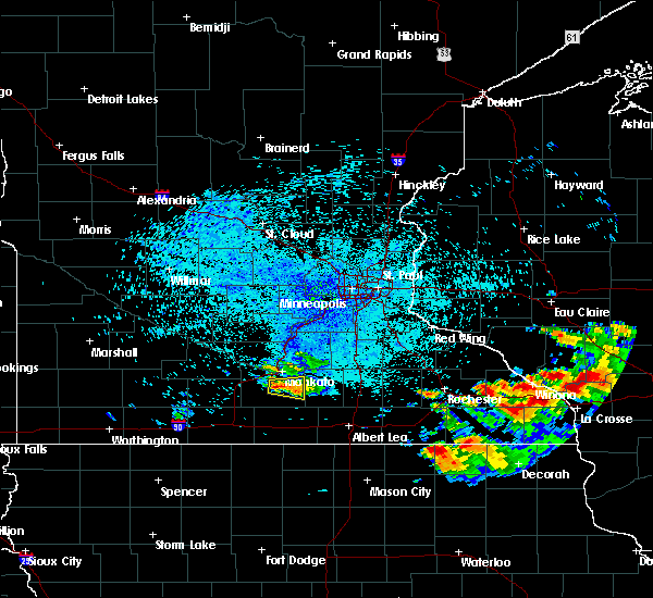 Radar Image for Severe Thunderstorms near Good Thunder, MN at 7/18/2019 10:14 PM CDT