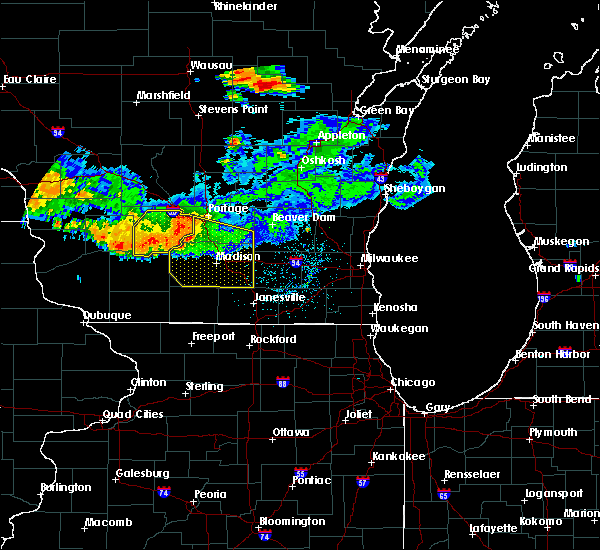 Radar Image for Severe Thunderstorms near Windsor, WI at 7/19/2019 1:41 AM CDT