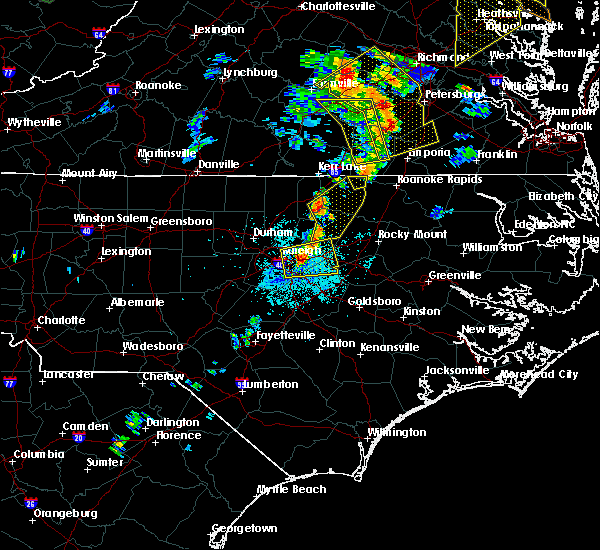 Radar Image for Severe Thunderstorms near Hollister, NC at 6/20/2015 9:14 PM EDT
