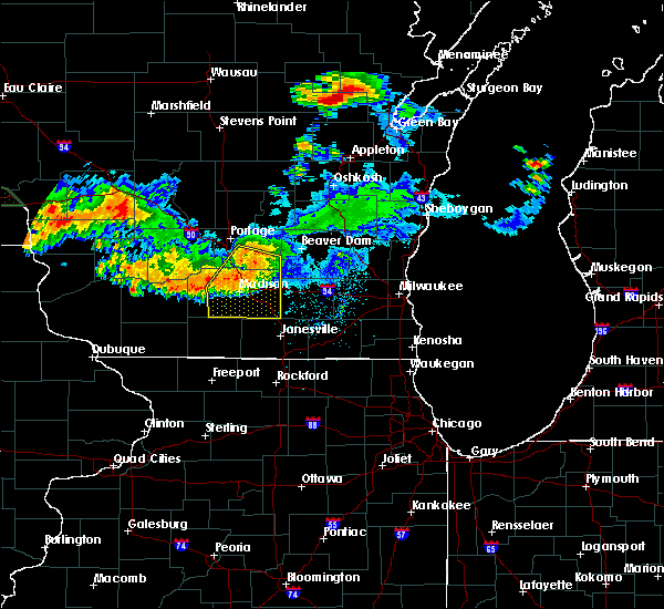 Radar Image for Severe Thunderstorms near Windsor, WI at 7/19/2019 2:23 AM CDT