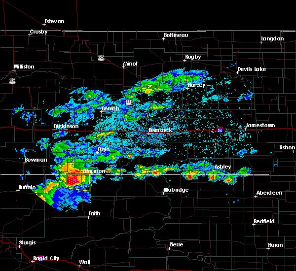 Radar Image for Severe Thunderstorms near Lemmon, SD at 7/19/2019 2:30 AM MDT