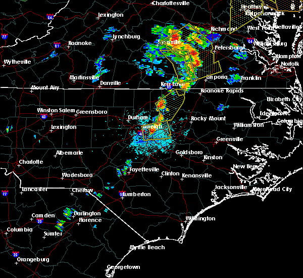 Radar Image for Severe Thunderstorms near Clayton, NC at 6/20/2015 9:18 PM EDT