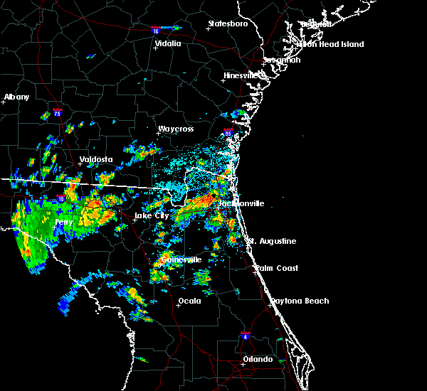 Radar Image for Severe Thunderstorms near Gainesville, FL at 7/19/2019 2:17 PM EDT