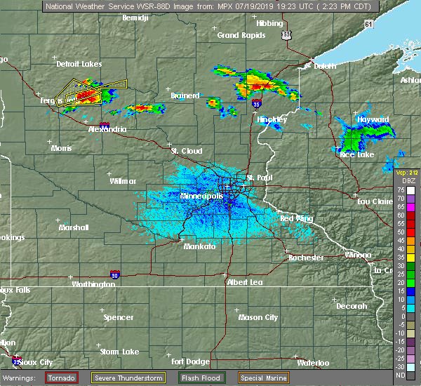 Radar Image for Severe Thunderstorms near Bertha, MN at 7/19/2019 2:25 PM CDT