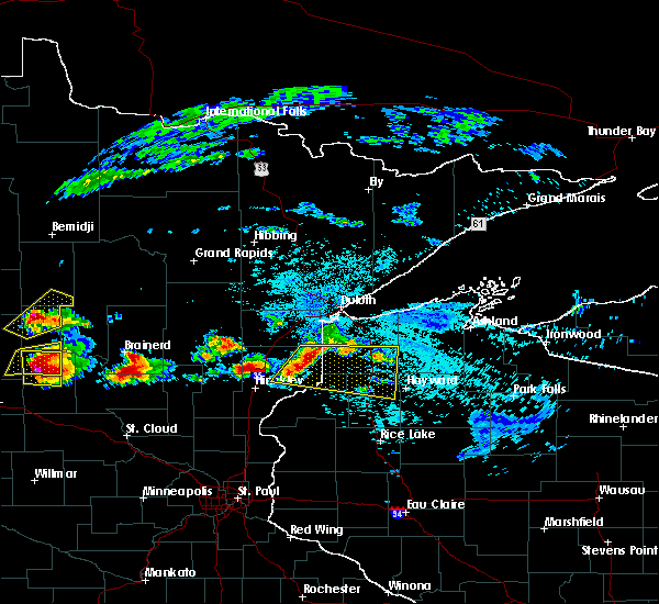 Radar Image for Severe Thunderstorms near Minong, WI at 7/19/2019 3:01 PM CDT