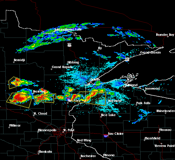 Radar Image for Severe Thunderstorms near Minong, WI at 7/19/2019 3:18 PM CDT