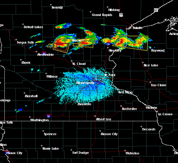 Radar Image for Severe Thunderstorms near Swanville, MN at 7/19/2019 3:31 PM CDT